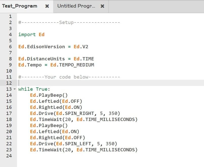 EdPy Example Program