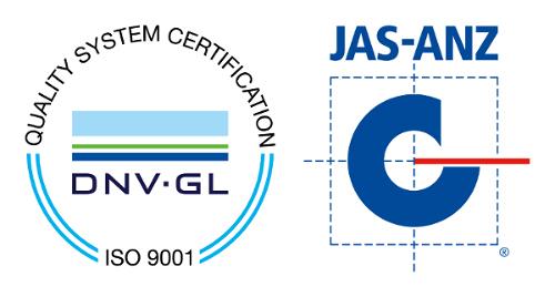DNV GL ISO 9001 & JAS ANZ Logos
