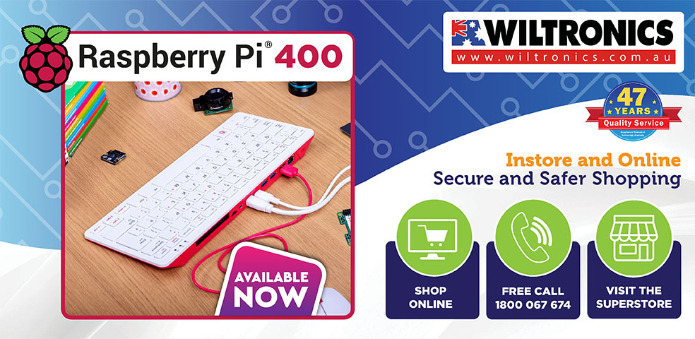 Raspberry Pi 400 available now