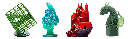 Examples of Resin 3D prints