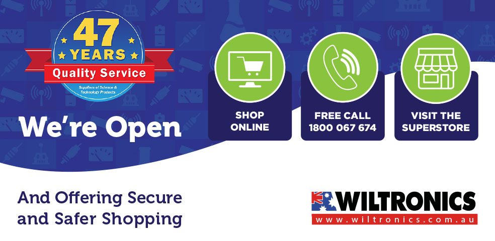 Wiltronics Open. Shop online, free call 1800 067 674 or visit in store