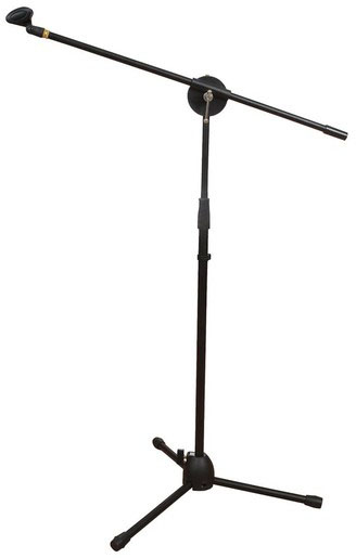 Photo of a boom microphone stand.