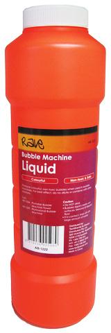 Photo of a bottle of bubble machine liquid.