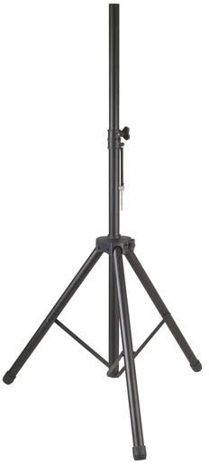 Photo of an extended large PA speaker stand.