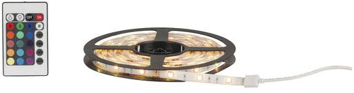 Photo of an RGB LED flexible strip light.