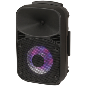 Photo of an 8 inch rechargeable public announcement speaker with Bluetooth® technology.