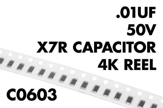 0 01 181 F 50v C0603 X7r Capacitor 4k Reel Wiltronics