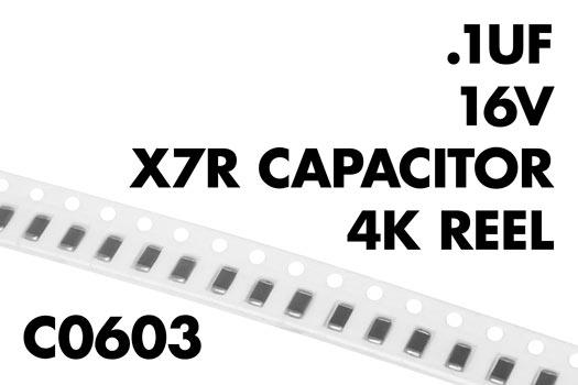 0 1 181 F 16v C0603 X7r Capacitor 4k Reel Wiltronics