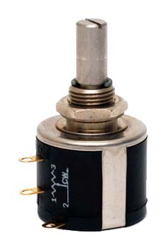 Photo of a 100OHM 10 turn spectrol 534 potentiometer.
