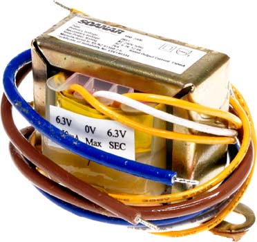 Photo of a 12.6V CT 150mA transformer.