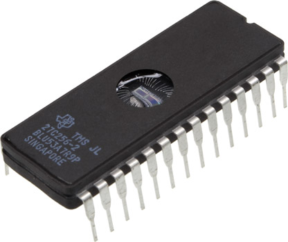 Photo of a 27C256-2 EPROM.