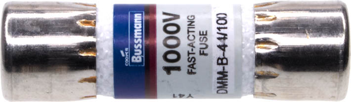 Photo of a 440mA fast acting fuse that has a 10.3mm diameter and is 38mm long.