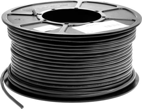Photo of a 100m roll of 8 core shielded data cable.