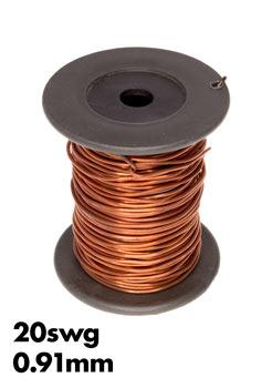Bare copper wire 20swg 091 mm 100gm roll wiltronics photo of a roll of 20swg bare copper wire greentooth Images