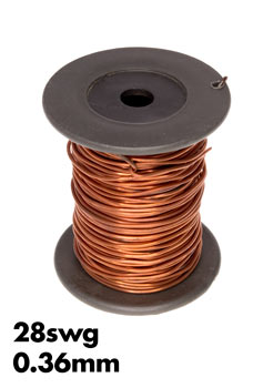 Bare copper wire 28 swg 036 mm 100gm roll wiltronics photo of a roll of 28swg bare copper wire keyboard keysfo Gallery