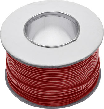 Red Cable 240VAC 7.5A 24/0.20 - 100m Roll | Wiltronics