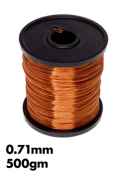 071mm enamel copper wire 500gm wiltronics photo of a 500gm roll of 071mm enamel copper wire greentooth Image collections