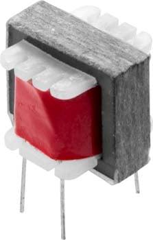 Photo of a miniature audio transformer.