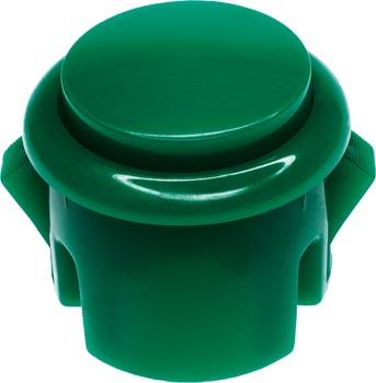 Photo of a 30mm diameter green arcade switch button.