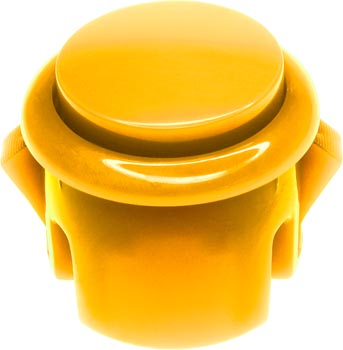 Photo of a 30mm diameter yellow arcade push button switch.