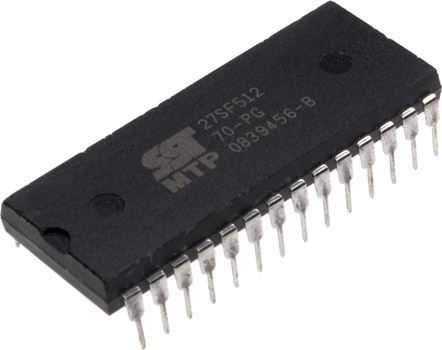 Photo of an SST27SF512-70-PG 28 pin dip.