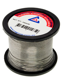 Photo of a 250g tin/lead solder roll.