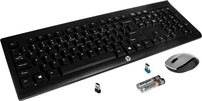 CM2140 HP Wireless Keyboard K2500 & HP Wireless Mouse 201 main