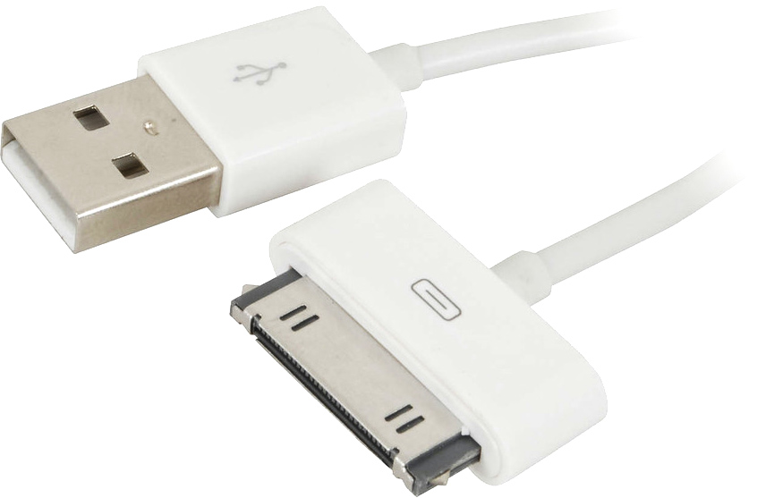 Photo of a USB charge/synch lead for iPod.