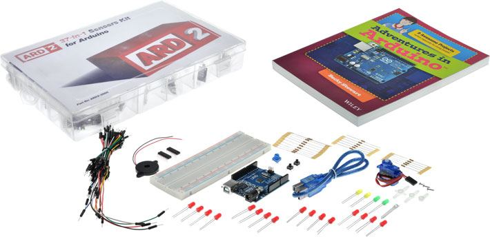 'Adventures in Arduino' Uno Starter Kit + 37-in-1 Sensor Pack
