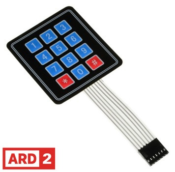 Arduino Compatible ARD2 3X4 Keypad Membrane Switch