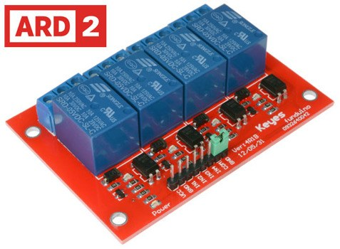 4 Channel High Voltage Relay Module Arduino Compatible