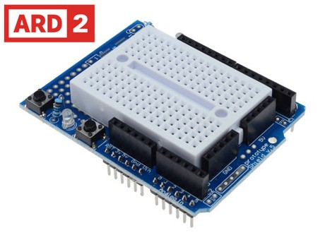 Arduino Compatible ARD2 Prototyping Shield with Mini Breadboard