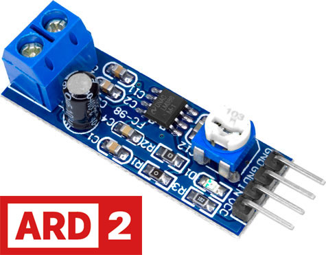 LM386 Audio Amplifier Board with a Gain of x200 Module Arduino Compatible