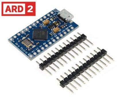 Arduino Compatible Pro Micro ATMEGA32U4 AU 16MHz 32KB 12 Pins