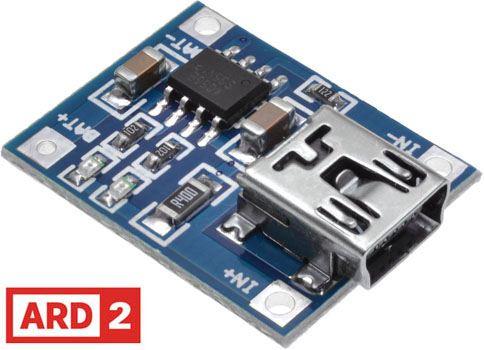 Arduino Compatible Mini-USB Charger Module Li-Ion 4.2V 1A