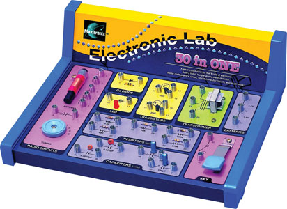 Photo of a 30-in-1 electronics lab kit.