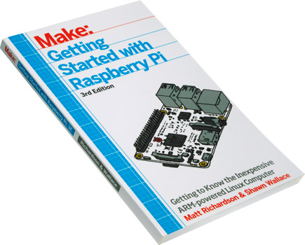 Photo of the Getting Started with Raspberry Pi book.