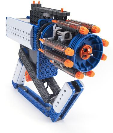 Photo of a gatling gun construction kit.
