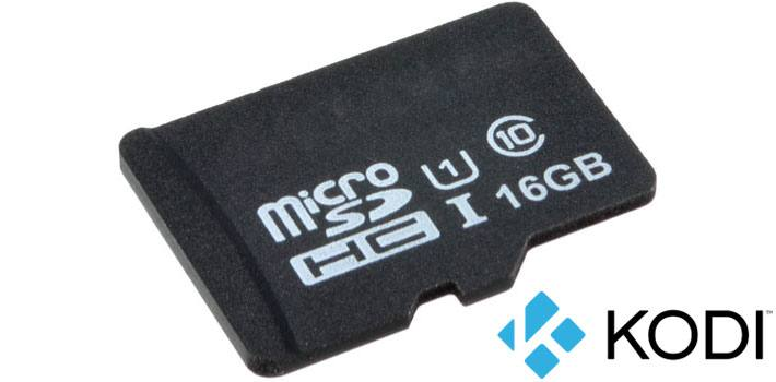 microSD Card 16GB Class 10 with Kodi Media Centre for Raspberry Pi