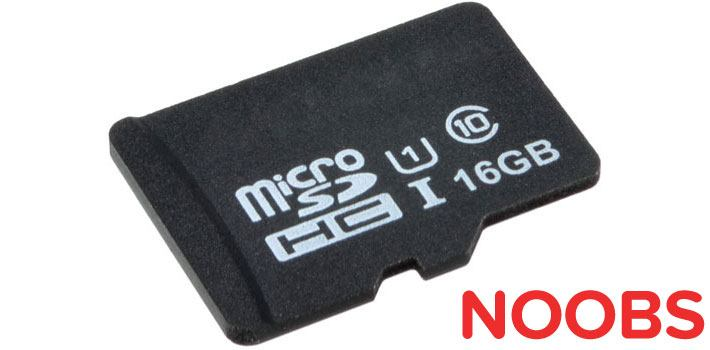 microSD Card 16GB Class 10 with NOOBS for Raspberry Pi