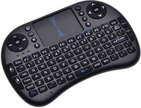 Mini Wireless Keyboard with Touchpad for Raspberry Pi (Black) 2.4GHz RF