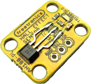 Photo of a Freetronics hall effect magnetic and proximity sensor.