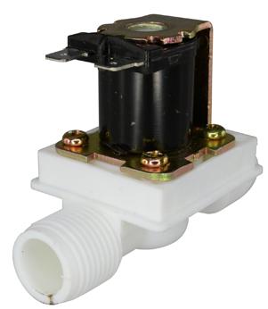 Plastic Water Solenoid Valve 12V - 1/2 Inch