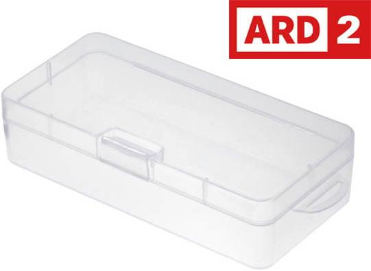 Photo of a translucent polypropylene plastic case.