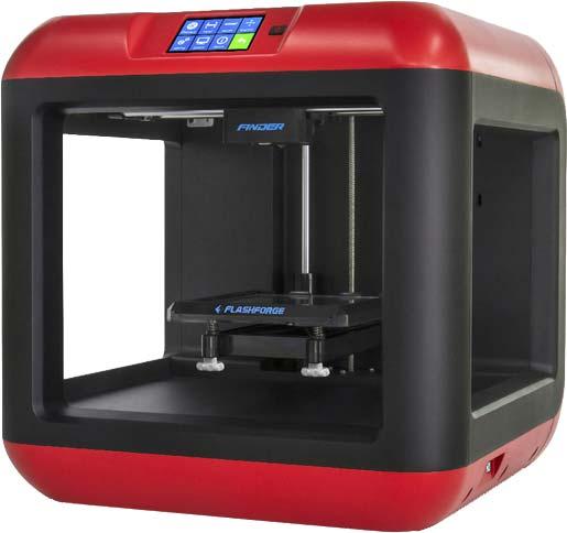 Photo of a Flashforge Finder 3D printer.