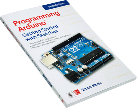 Photo of the Programming Arduino: Getting Started with Sketches book.
