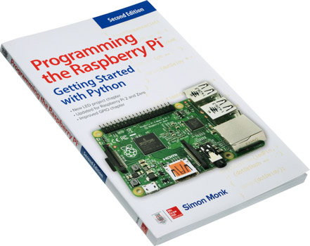 Photo of the Programming the Raspberry Pi book.