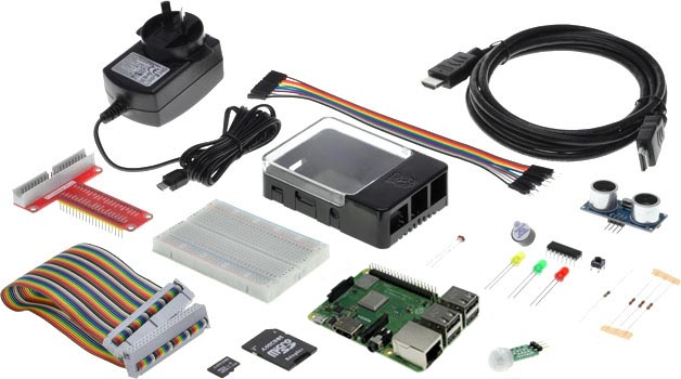 Photo of a Raspberry Pi 3 Model B+ STEM Coding Starter Pack.