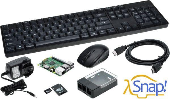 Raspberry Pi 3 Model B Snap Bundle