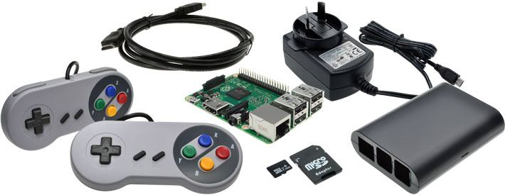 Raspberry Pi 3 Model B Retro Games Bundle